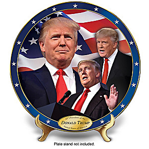 President Donald Trump Collector Plate