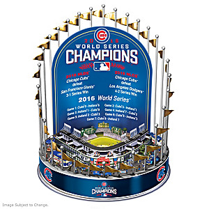 Cubs 2016 World Series Champions Lighted Musical Carousel