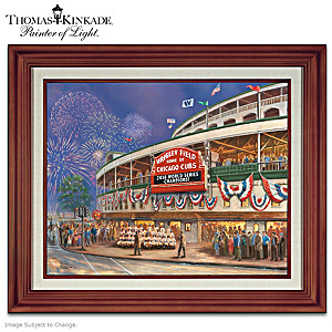 Thomas Kinkade Wrigley Field Chicago Cubs Canvas Print