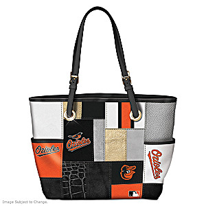 Baltimore Orioles Patchwork Tote Bag With Team Logos