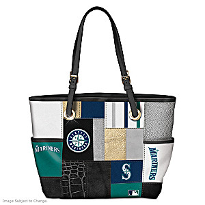 Seattle Mariners Patchwork Tote Bag With Team Logos