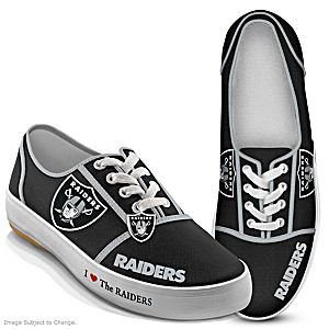 NFL-Licensed Oakland Raiders Women's Canvas Sneakers