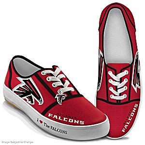 NFL-Licensed Atlanta Falcons Women's Canvas Sneakers