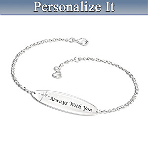 """Always With You"" Personalized Diamond Remembrance Bracelet"