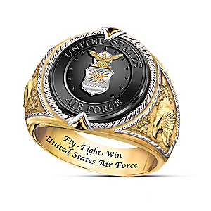 "U. S. Air Force ""Fly, Fight, Win"" Tribute Ring"