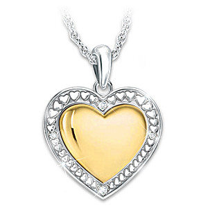My daughter my joy my love heart shaped diamond pendant necklace my daughter my joy my love diamond pendant necklace mozeypictures Images