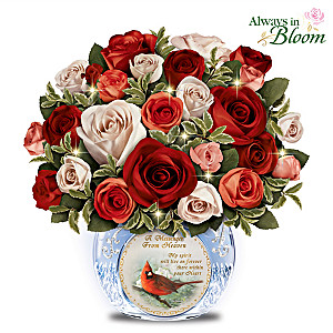 """Messenger From Heaven"" Lighted Remembrance Centerpiece"