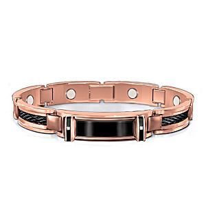 Nature's Healing Strength Men's Copper And Diamond Bracelet