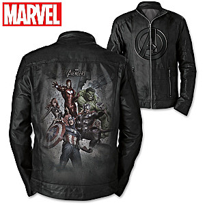 MARVEL Avengers Men's Genuine Leather Jacket