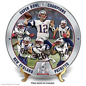 New England Patriots Super Bowl LI Champions Collector Plate
