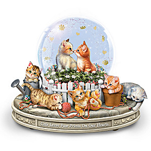"""Paws-itively Precious"" Rotating Musical Glitter Globe"