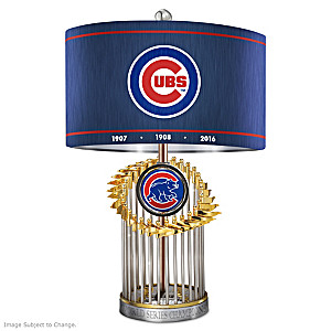 Chicago Cubs World Series Commemorative Table Lamp