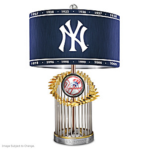 New York Yankees World Series Commemorative Table Lamp