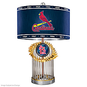 St. Louis Cardinals World Series Commemorative Table Lamp