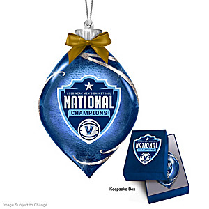 Wildcats 2018 NCAA Champions Lighted Glass Ornament