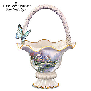 "Thomas Kinkade ""Everett's Cottage"" Food-Safe Ceramic Bowl"