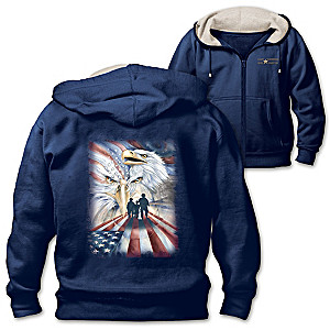 """Always Remembered, Never Forgotten"" Men's Knit Hoodie"