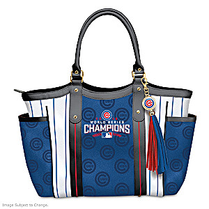 Chicago Cubs 2016 World Series Champions Tote Bag