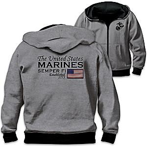U.S. Marines Men's Reversible 2-In-1 Hoodie
