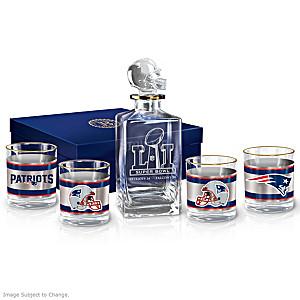 Patriots Super Bowl LI Champions Five-Piece Decanter Set