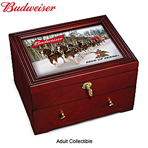 Budweiser King Of Beers Custom-Crafted Wooden Keepsake Box