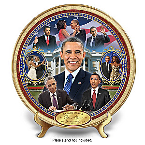 """Barack Obama: America's 44th President"" Masterpiece Plate"