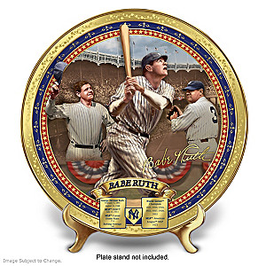 Babe Ruth Commemorative Porcelain Collector Plate
