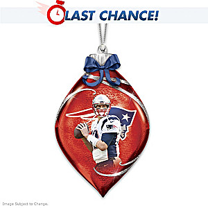 New England Patriots Tom Brady Illuminated Glass Ornament