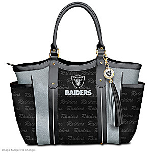 """Touchdown Raiders!"" Designer Style Shoulder Tote"