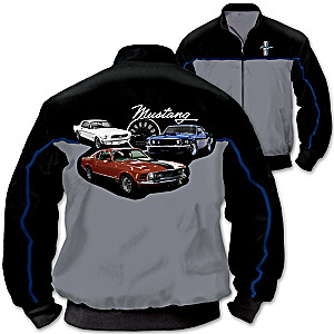 Mustang Men's 2-Tone Black and Gray Twill Jacket