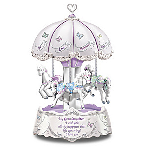 """Granddaughter, I Wish You"" Illuminated Carousel Music Box"