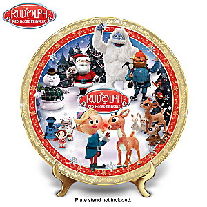 Rudolph The Red-Nosed Reindeer Porcelain Collector Plate