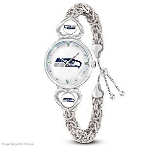 """""""Seattle Seahawks Forever"""" Women's Bracelet-Style Watch"""