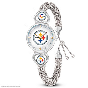 """Pittsburgh Steelers Forever"" Women's Bracelet-Style Watch"