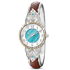 American Southwest-Inspired Watch With Genuine Turquoise