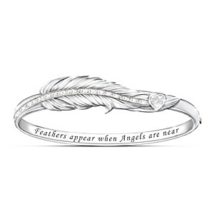 """When Angels Are Near"" Remembrance Diamond Bracelet"