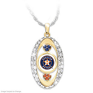 """For The Love Of The Game"" Astros Crystal Pendant"