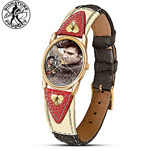 """Burning Love"" Elvis Presley Women's Watch With Imagery"