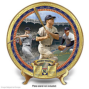 Mickey Mantle Commemorative Porcelain Collector Plate