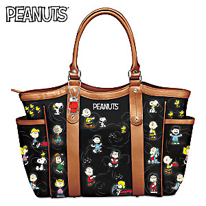 """The PEANUTS Gang"" Women's Tote Bag With Comic Strip Art"