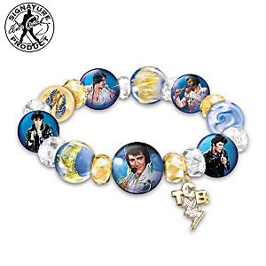 A Legend Redefined Elvis Presley Porcelain & Glass Bracelet