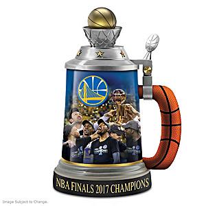 Golden State Warriors 2017 NBA Finals Champions Stein