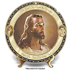 """For God So Loved The World"" Porcelain Collector Plate"