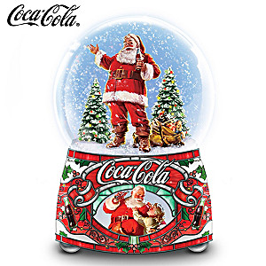 "COCA-COLA ""Share The Joy"" Illuminated Musical Glitter Globe"