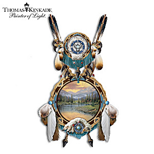 Thomas Kinkade Native Beauty Sculptural Dreamcatcher Decor