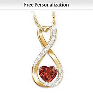 """Forever And Ever"" Personalized Diamond Pendant Necklace"