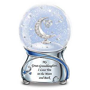 Great-Granddaughter Musical Glitter Globe With Crystals