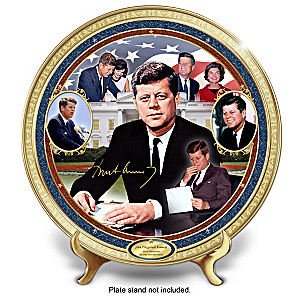 John F. Kennedy Commemorative Masterpiece Collector Plate