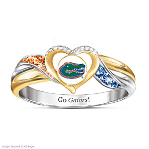 Florida Gators Pride Ring With Team-Color Crystals