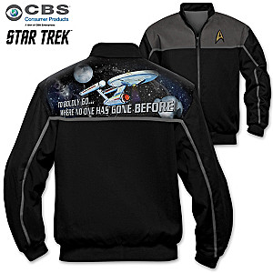 STAR TREK Men's Twill Jacket With Starfleet Insignia